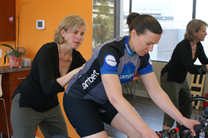 Body Works Bike fitting lower back and pelvis positioning on bike with breathing