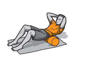 Physiotherapy foam roller exercise for tight lower back muscles