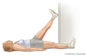 Hamstring Stretch protecting lower back