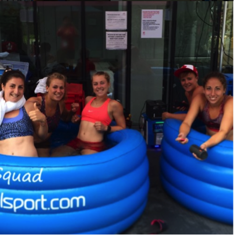 ice tubs and hot baths pan am games