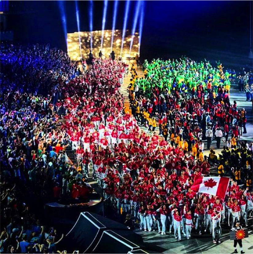 pan am Games - group photo opening ceremonies