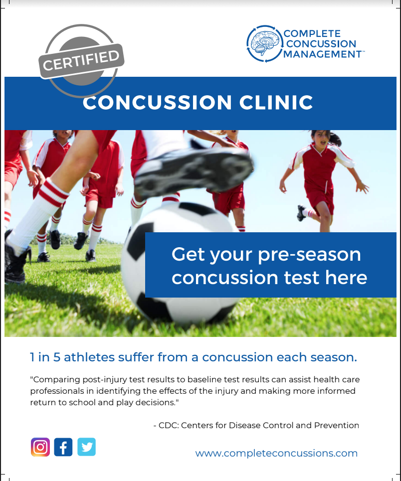 Concussion Baseline testing Poster